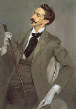 Gentleman with a cane